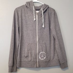soul flower Sweaters - NWOT Peace sign zip up hoodie sweatshirt jacket